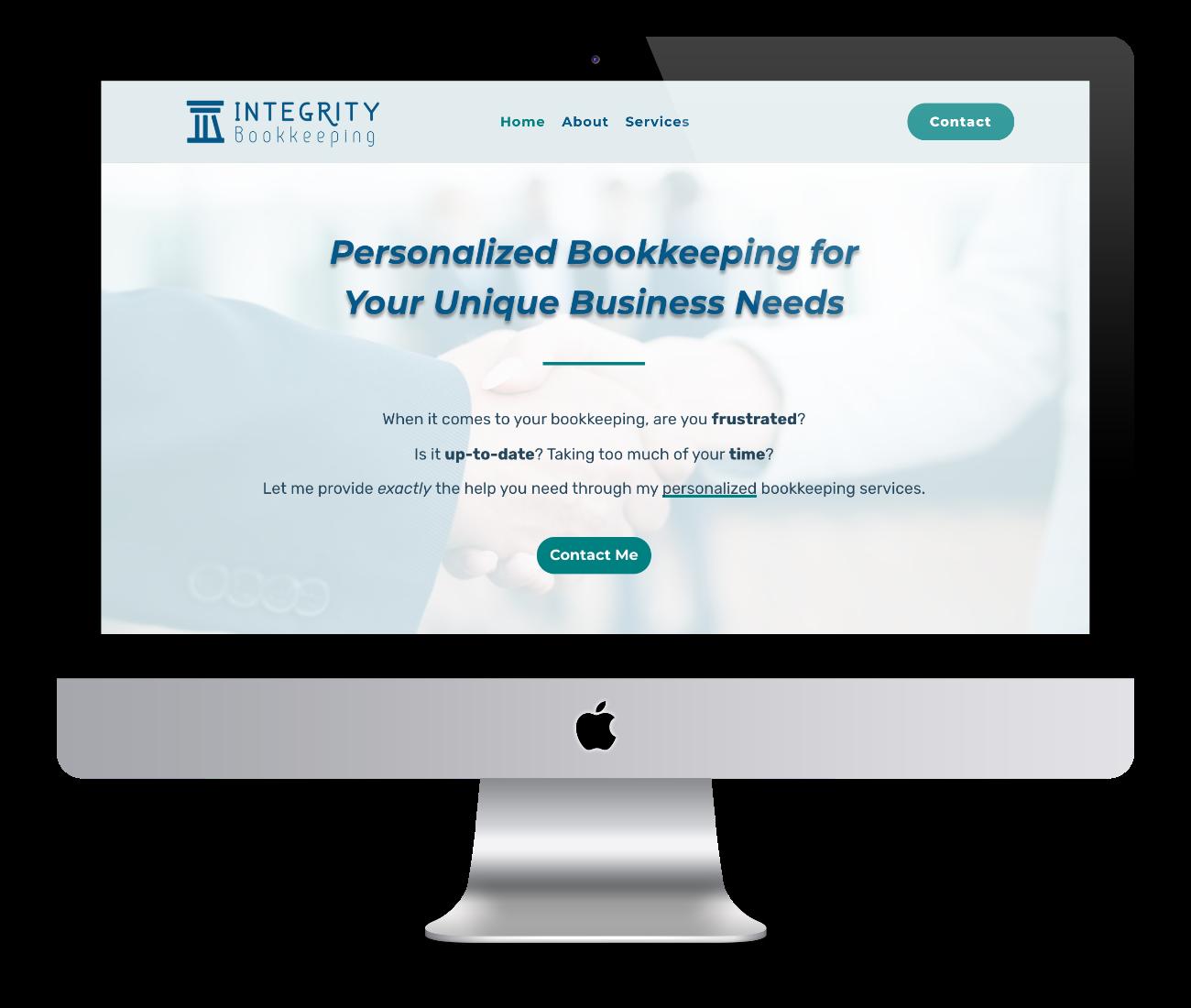 Mockup of website design for Mundo Business Solutions